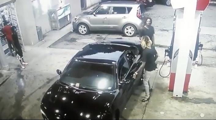 Crazy Gas Station Shootout in Atlanta Caught on Camera