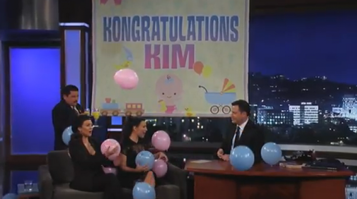 Jimmy Kimmel Throws Kim K a Baby Shower On His Show!