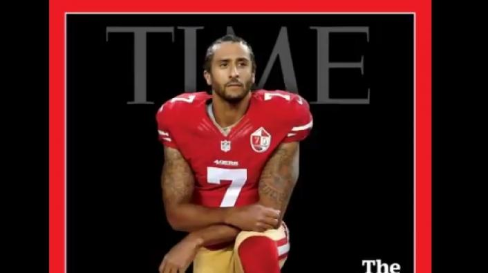 Colin Kaepernick Covers Time Magazine While Kneeling
