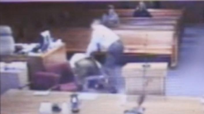 Judge Disrobes and Tackles Defendant in Court