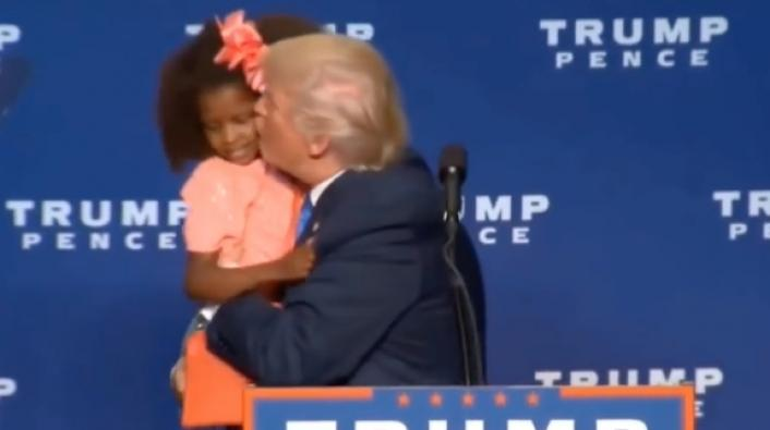 Donald Trump Kisses 6-Year-Old Black Girl in Awkward Video