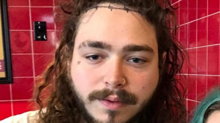 Post Malone Before His Tattoos: Post Malone Apparently Has Another Face Tattoo