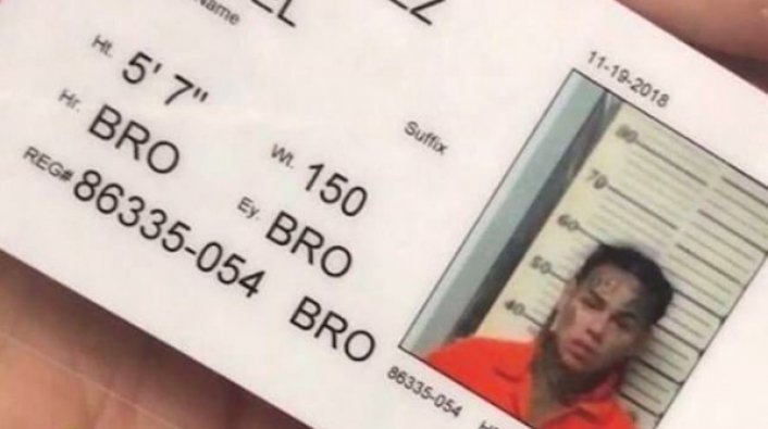 Tekashi 6ix9ine's Alleged Updated Mugshot Surfaces