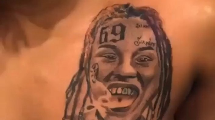Update: Video Shows Tattoo Tekashi 6ix9ine's Girlfriend