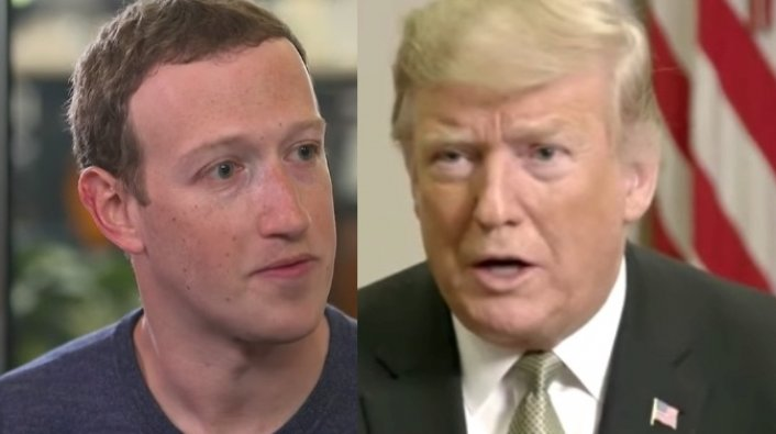 Article Image: Mark Zuckerberg Announces Trump is Banned from Facebook/IG Indefinitely