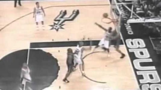 Image: 50. 2003 NBA Finals Game 1 - Tim Duncan 32 points