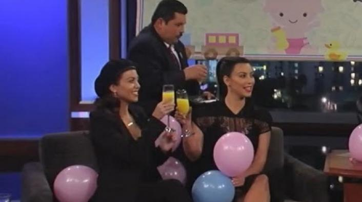 Image: Jimmy Kimmel Throws Kim K a Baby Shower On His Show!