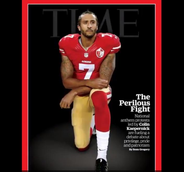 Image: Colin Kaepernick Covers Time Magazine While Kneeling Image #2