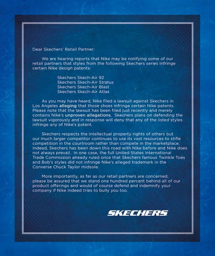 Image: NIke Responds to Skechers' Bullying Claims, Files Another Lawsuit Image #2