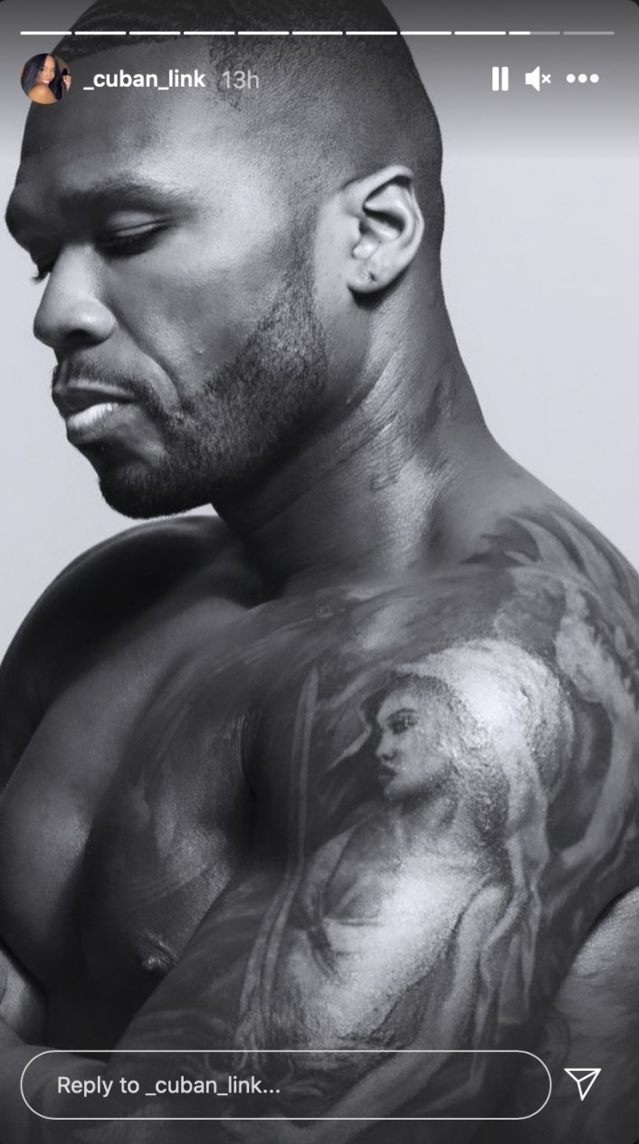 Image: 50 Cent Seemingly Gets Tattoo of Girlfriend Cuban Link on His Arm Image #3