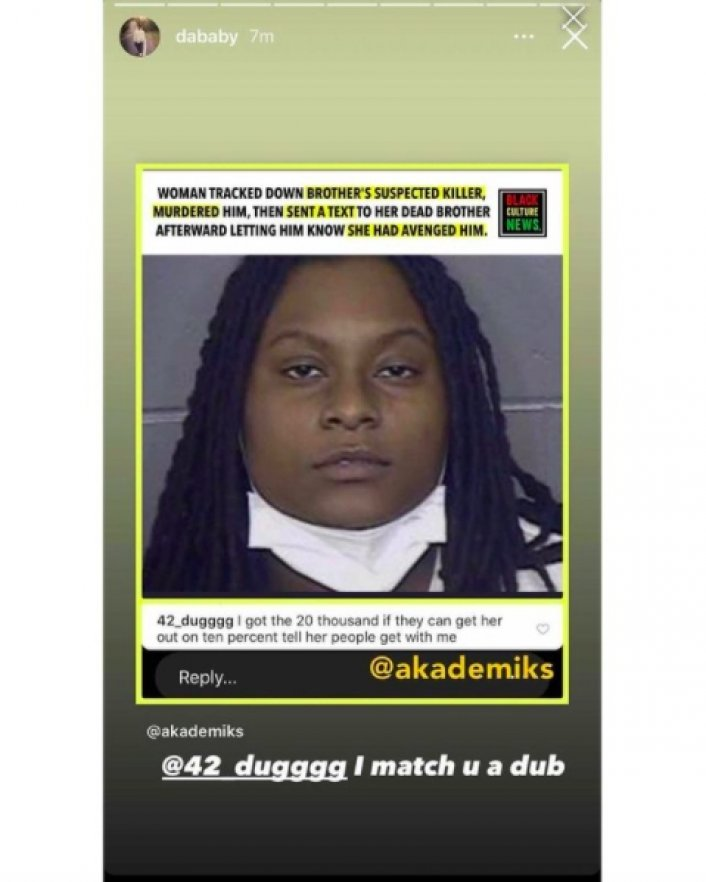 Image: Update: 42 Dugg, DaBaby Offer to Pay Woman's Bail Who Killed Brother's Killer Image #2