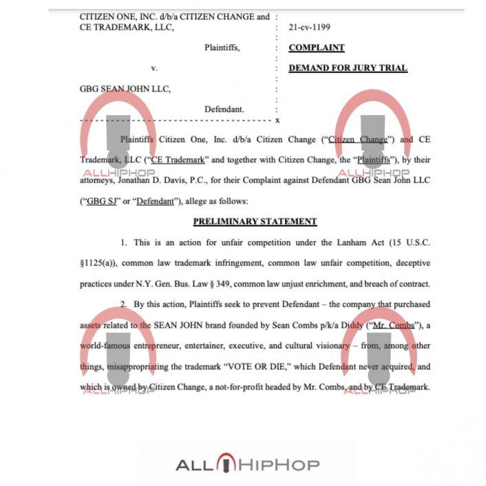 Image: Update: Diddy Files New $60M Lawsuit Against Sean John Over 'Vote Or Die' Image #2
