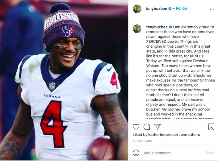 Image: Lawyer Says 6 Sexual Assault Claims Are Coming Against Deshaun Watson Image #4