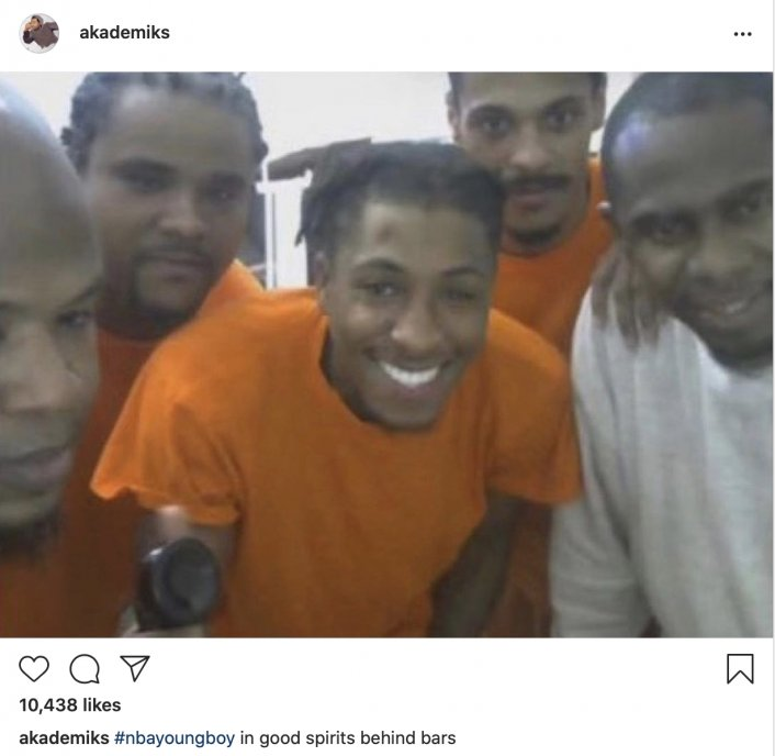 Image: Photo Surfaces of NBA YoungBoy Smiling in Jail Image #2