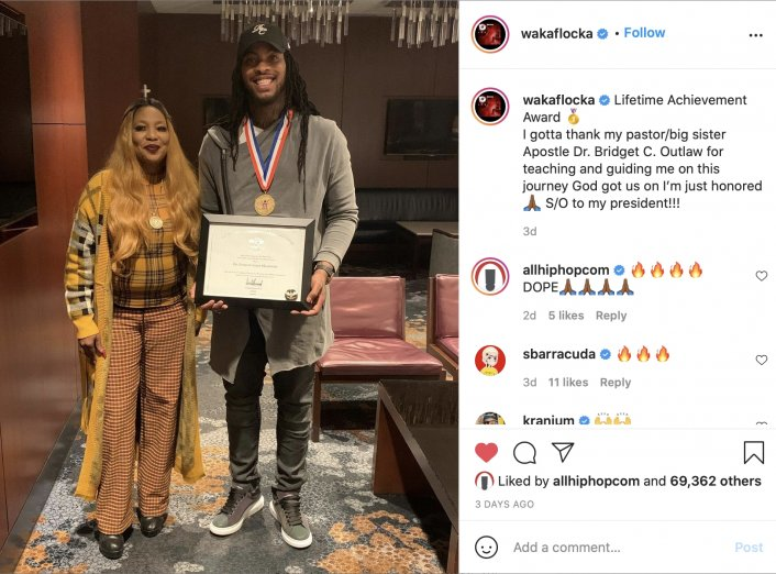 Image: Waka Flocka Shouts Out Trump for Giving Him Lifetime Achievement Award Image #2