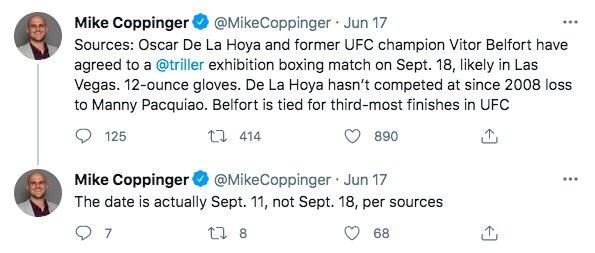Image: Oscar De La Hoya to Fight Former UFC Champ Vitor Belfort on Sept. 11 Image #2