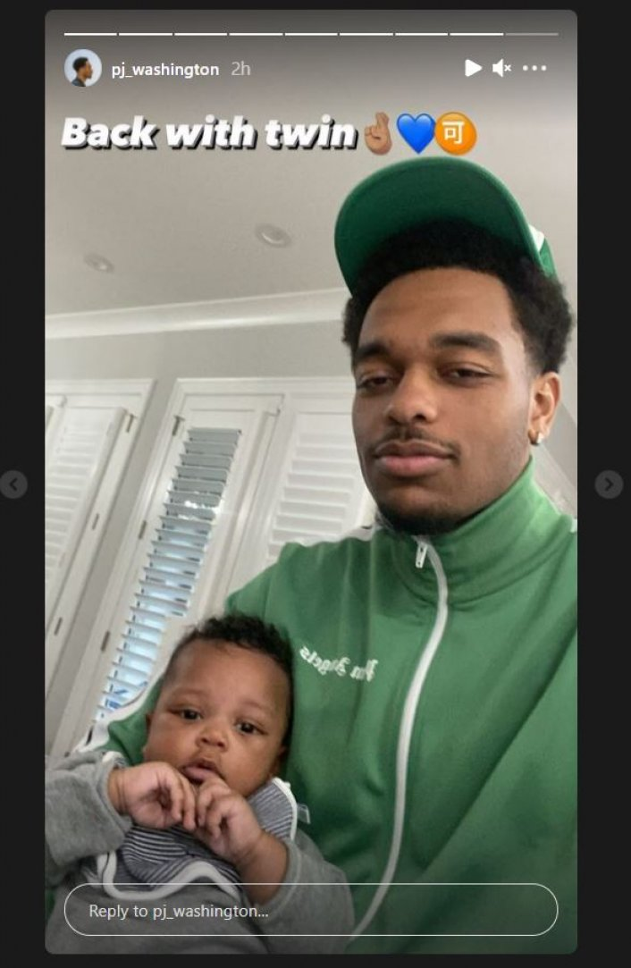 Image: Update: PJ Washington Spends Time with Son Amid Rift with Brittany Renner Image #2