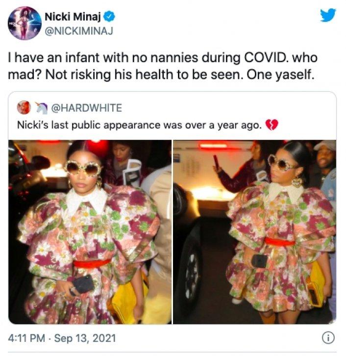 Image: Nicki Minaj Reveals She Got COVID-19 During Video Shoot Image #3