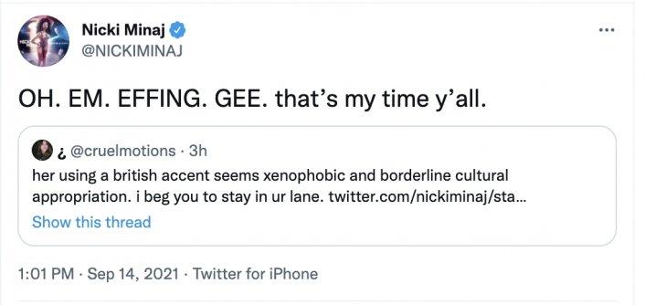 Image: Nicki Minaj Has Heated Exchange with Piers Morgan Over Vaccination Tweet Image #3