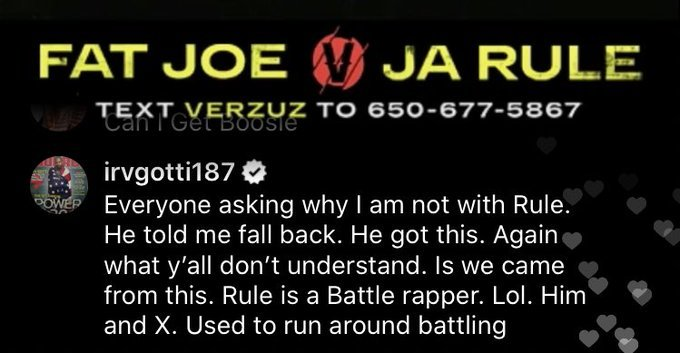 Image: Irv Gotti Goes at Trolls Mentioning 50 Cent During Fat Joe and Ja Rule 'Verzuz' Image #3