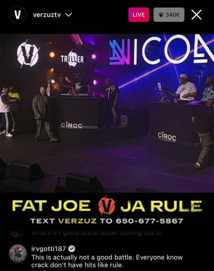Image: Irv Gotti Goes at Trolls Mentioning 50 Cent During Fat Joe and Ja Rule 'Verzuz' Image #4