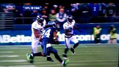 Marshawn Lynch Does a Nasty Move on Ray Lewis!