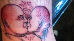 Shaq Gives Man $2k For Tattoo of Barkley Kissing Another Guy
