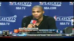 "Russell Westbrook to Reporter,""No More Questions for You Bro"""