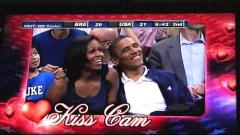 President Obama & Michelle Share Kiss Cam Moment At USA Game