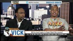 T.I. Debates Michael Vick & Eagles On ESPN First Take