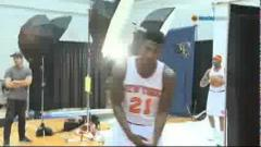 Iman Shumpert Spits Freestyle at Knicks Media Day