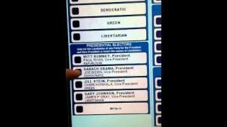 Voting Machine Won't Allow Man To Vote For Obama