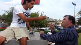 Obama Supporter Disrespects Romney Supporter on Election Day
