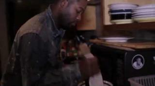 Mickey Factz Cooks Up a Healthy Meal in the Studio