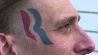 Man w/ Romney Face Tattoo Says He Will Remove It