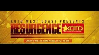 KOTD Resurgence: Caustic vs John John Da Don Battle Card