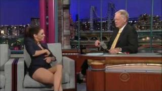Eva Longoria Flashes David Letterman on TV!