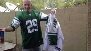 Jets Fan Burns Mark Sanchez Jersey