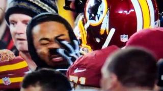 Redskins' Trent Williams Mushes Seahawk's Richard Sherman!