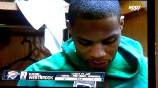 Russell Westbrook Reacts To Reporter's Dumb Question