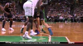 Kevin Garnett Throws Bows at Kris Humphries During Loose Ball
