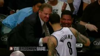 Deron Williams Assists Fan After Pass Hits Him in the Face