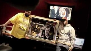 Birdman Presents DJ Khaled With Gold Plaque