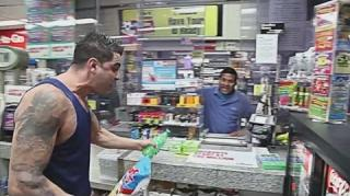 Dizaster Bodies a Gas Station Clerk With Random Freestyle