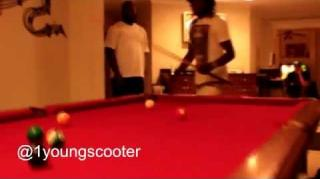 Zaytoven Slayed by Young Scooter in Pool Game Rematch
