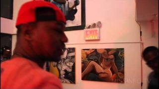 Cam'ron Gives Miss Info a Tour of Dame Dash's Art Gallery