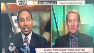 Skip Bayless Jokes on Stephen A Smith's Hairline