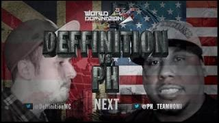 KOTD World Domination 4 Battle: PH vs Definition