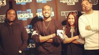 Kanye & Charlamagne Go Hard During Breakfast Club Interview