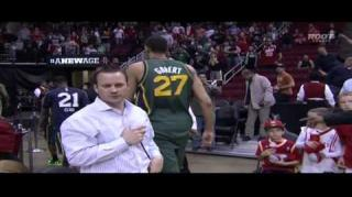 Fight! Hands Get Thrown at the End of Rockets vs Jazz Game